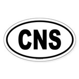 CNS Oval Decal