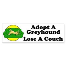 Lose A Couch Bumper Sticker (fawn hound)