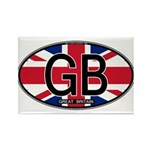 Great Britain Colors Oval Rectangle Magnet