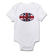 Great Britain Colors Oval Infant Bodysuit