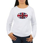 Great Britain Colors Oval Women's Long Sleeve T-Sh