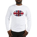 Great Britain Colors Oval Long Sleeve T-Shirt