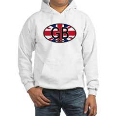 Great Britain Colors Oval Hooded Sweatshirt