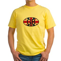Great Britain Colors Oval Yellow T-Shirt