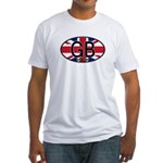 Great Britain Colors Oval Fitted T-Shirt