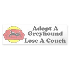 Lose A Couch Bumper Sticker (black hound)