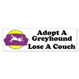 Lose A Couch Bumper Sticker (white hound)