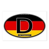 Germany Colors Oval Postcards (Package of 8)