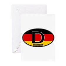 Germany Colors Oval Greeting Cards (Pk of 10)