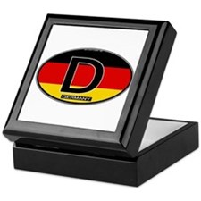 Germany Colors Oval Keepsake Box
