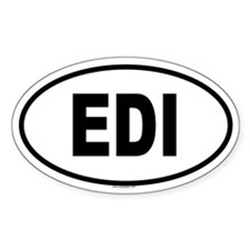 EDI Oval Decal