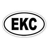 EKC Oval Decal