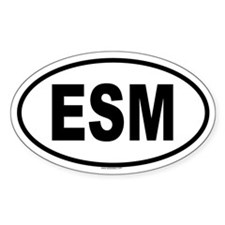 ESM Oval Decal