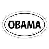 Obama 2008 Traditional Sticker -White (Oval)