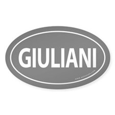 Giuliani 2008 Traditional Sticker -Black (Oval)