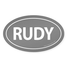 Rudy 2008 Traditional Sticker -Black (Oval)