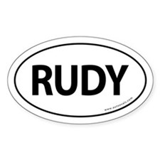 Rudy 2008 Traditional Sticker -White (Oval)