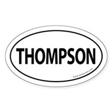Thompson 2008 Traditional Sticker -White (Oval)