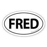 Fred 2008 Traditional Sticker -White (Oval)