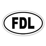 FDL Oval Decal