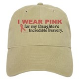 Pink For My Daughter's Bravery 1 Baseball Cap