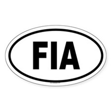 FIA Oval Decal