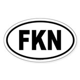FKN Oval Decal