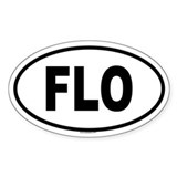 FLO Oval Decal