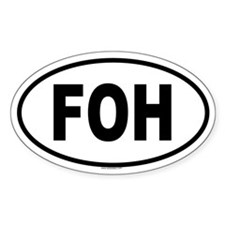 FOH Oval Decal