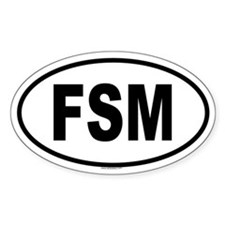 FSM Oval Decal