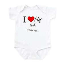 I Love My Tajik Princess Infant Bodysuit