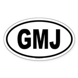 GMJ Oval Decal