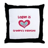 Logan is Grandpa's Valentine  Throw Pillow
