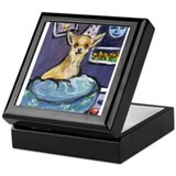 Chihuahua in Bed Keepsake Box