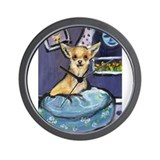 Chihuahua in Bed Wall Clock
