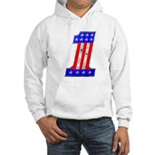 USA 1 VINTAGE CHROME EMBLEM Hooded Sweatshirt