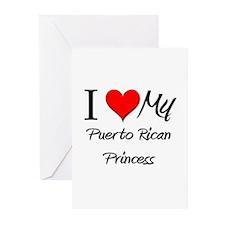 I Love My Puerto Rican Princess Greeting Cards (Pk