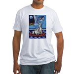 CANAAN DOG art Fitted T-Shirt