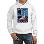 CANAAN DOG art Hooded Sweatshirt