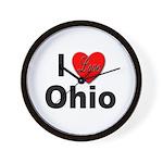 I Love Ohio Wall Clock