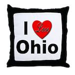 I Love Ohio Throw Pillow