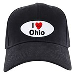 I Love Ohio Black Cap