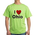 I Love Ohio Green T-Shirt