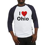 I Love Ohio (Front) Baseball Jersey