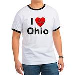 I Love Ohio (Front) Ringer T