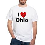 I Love Ohio (Front) White T-Shirt
