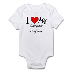 I Heart My Computer Engineer Infant Bodysuit