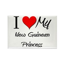 I Love My New Guinean Princess Rectangle Magnet