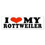I (Heart) My Rottweiler Bumper Car Sticker