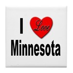 I Love Minnesota Tile Coaster